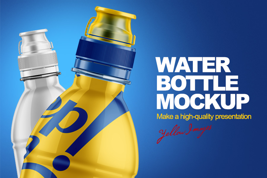 Water Bottle Free Mockup