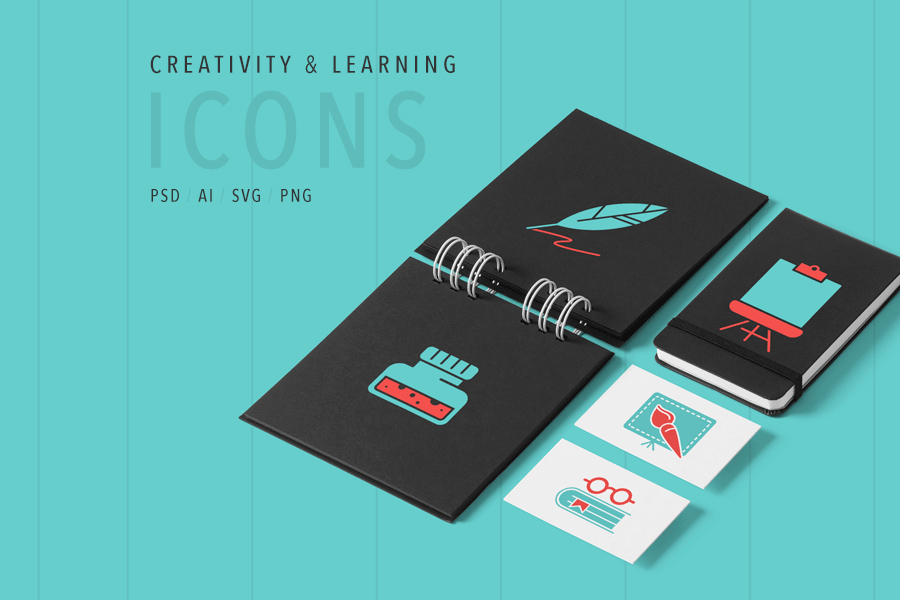 Art & Learning Free Icon Set
