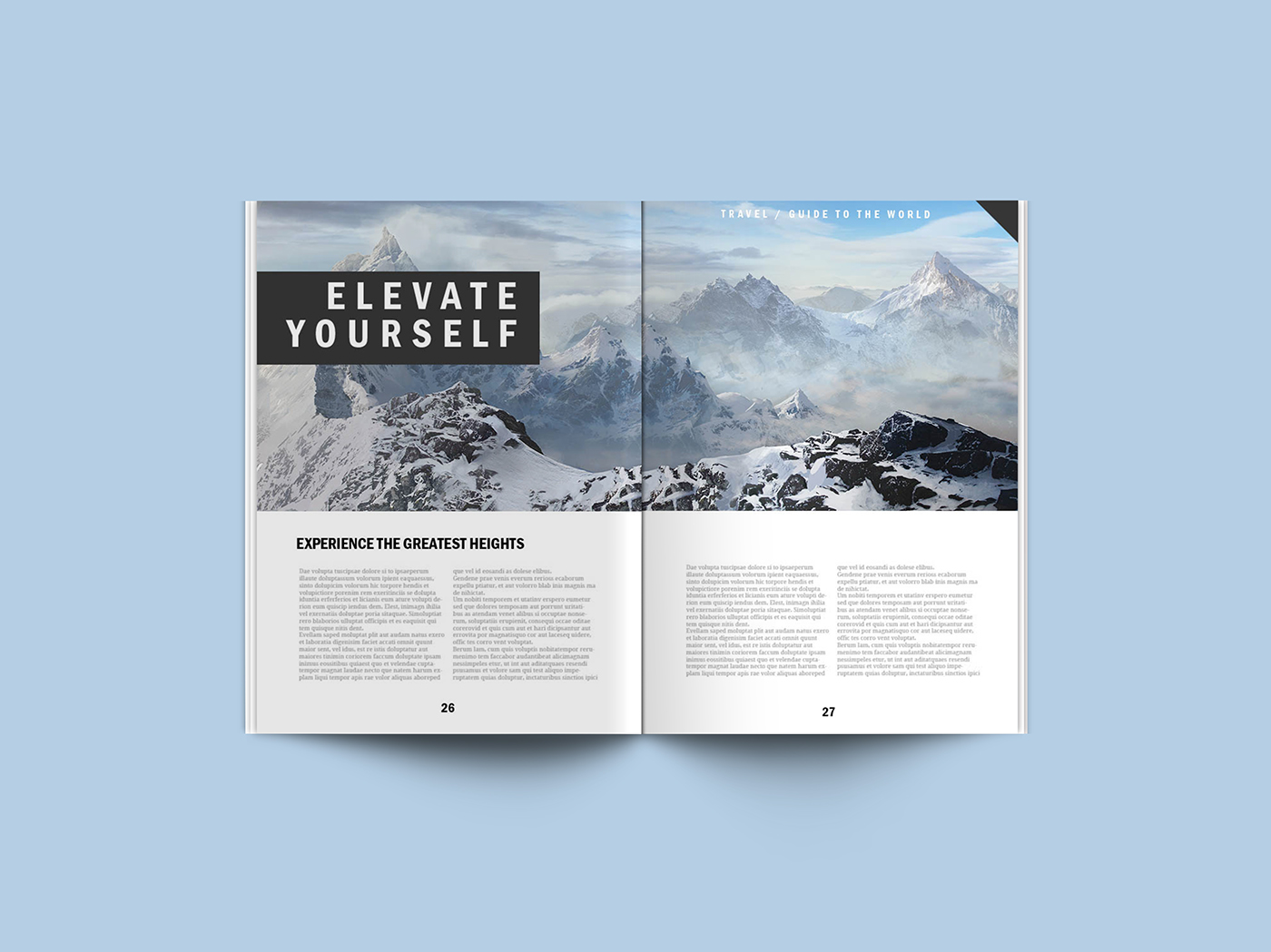 Photoshop Templates: Free Magazine PSD Mockup Template