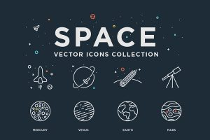 Space Vector Icons Collection for Free