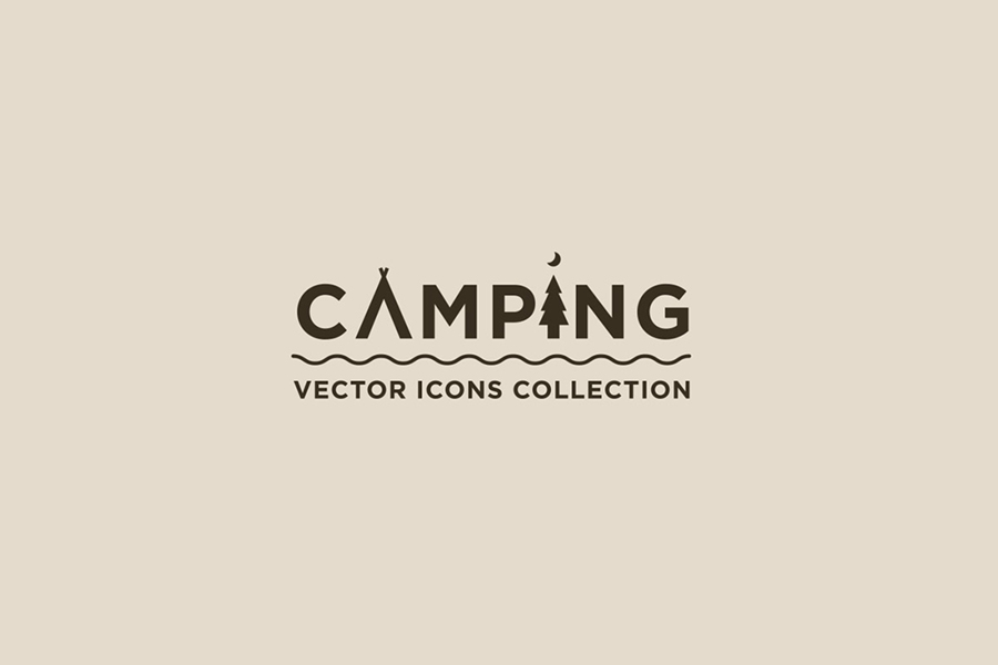40 Camping Vector Icons – Free